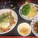黒田節「おすすめマグロ丼&豚天定食&トロロ」
