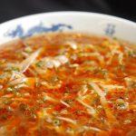 黄金の福ワンタンまくり 飯倉本店の酸辣麺